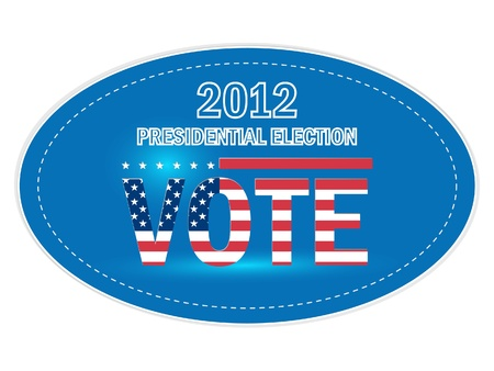 resignation: United States Presidential Election Stickers in 2012 Illustration