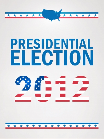 United States Presidential Election in 2012 Stock Vector - 15756710