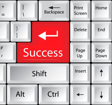 accomplishments: Computer Keyboard with Success Key