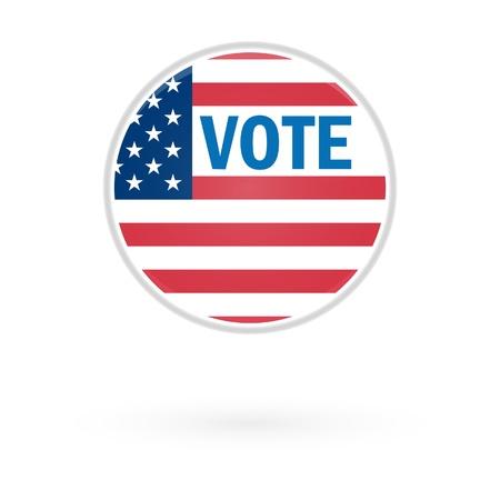 nomination: Elecci�n presidencial Bot�n del voto en 2012 Vectores