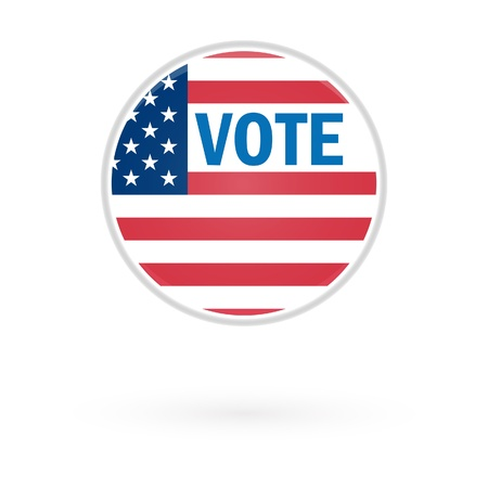 Presidential Election Vote Button In 2012 Stock Vector - 15842005