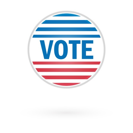 Presidential Election Vote Button In 2012 Stock Vector - 15842003