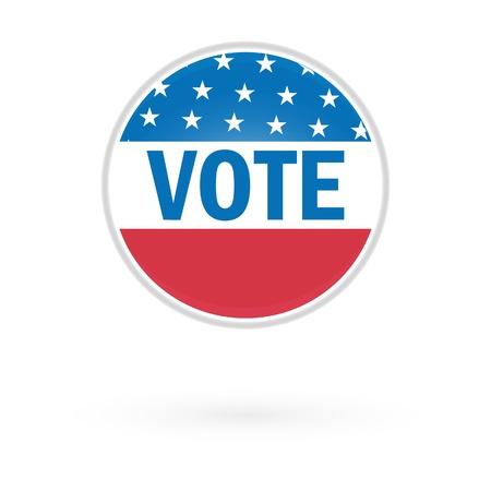 suffrage: Presidential Election Vote Button In 2012 Illustration