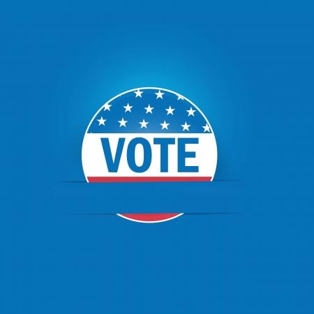 Vote Button Applique Background Stock Vector - 15842024