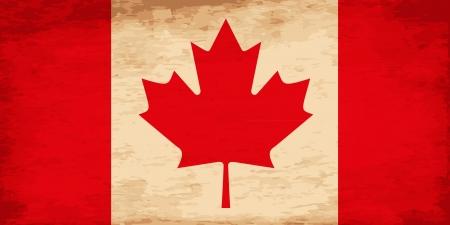 canada day: Grunge Flag of Canada