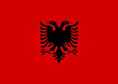 albania: Flag of Albania Illustration