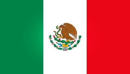 Мексика: Флаг Мексики Иллюстрация
