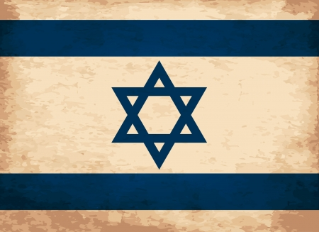Grunge Flag of Israel Vector