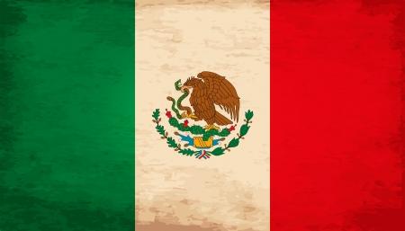 Grunge Flag Of Mexico Vector