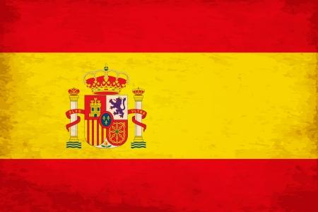 グランジ スペインの旗  イラスト・ベクター素材