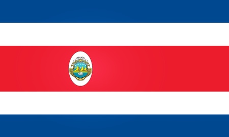 rica: Flag of Costa Rica Illustration