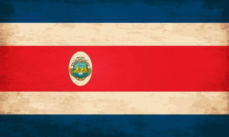 bandera de costa rica: Grunge Flag of Costa Rica Vectores