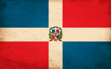 republic of dominican: Grunge Flag of Dominican Republican