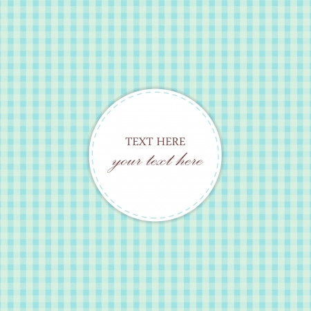 Blue Vintage Card, Plaid Design Vector