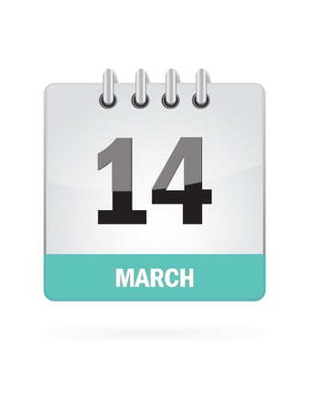 14 March Calendar Icon On White Background Stock Vector - 16719798
