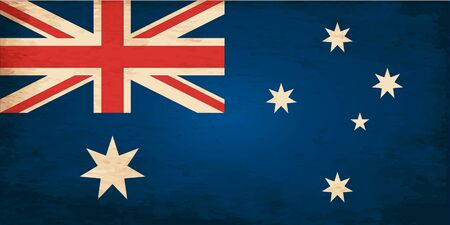 australia day: Grunge Flag of Australia