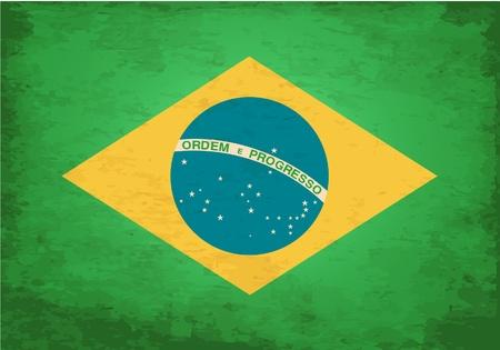 Grunge Flag of Brasil