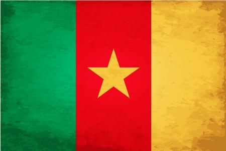 cameroon: Grunge bandiera del Camerun