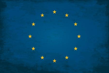 unification: Grunge Flag of European Union Illustration