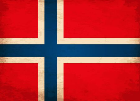 european countries: Grunge Flag of Norway Illustration