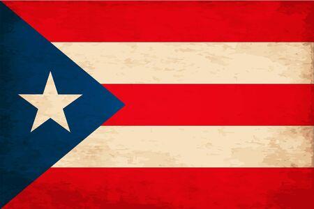 puerto rican: Grunge Flag of Puerto Rico Illustration