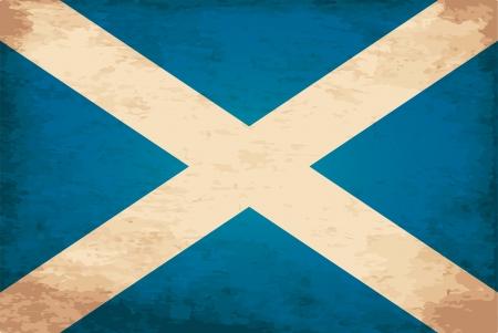 scotland flag: Grunge Flag of Scotland