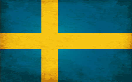sweden flag: Grunge Flag of Sweden