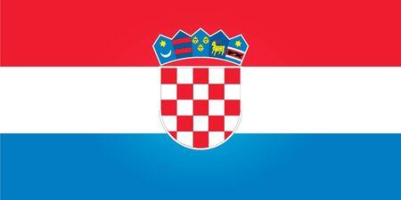croatia flag: Flag of Croatia Illustration