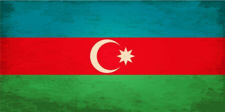 azerbaijan: Grunge Flag of Azerbaijan Illustration