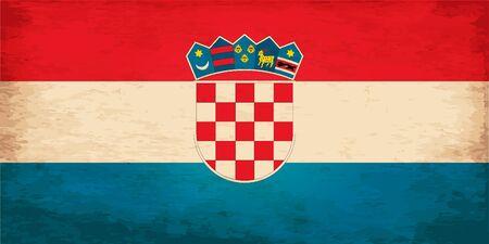 croatia flag: Grunge Flag of Croatia
