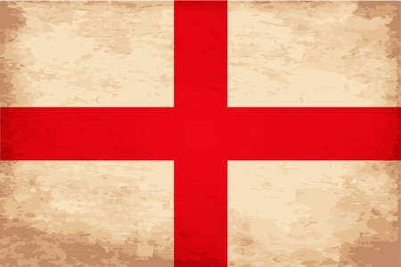 Grunge Flag of England Vector