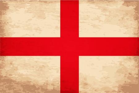 Grunge Flag of England Illusztráció