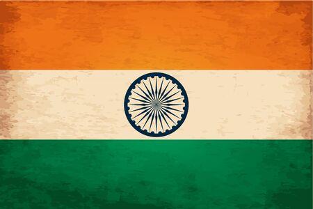 ashoka: Grunge Flag of India Illustration