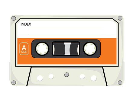 tape recorder: Cintas de audio aisladas sobre fondo blanco Vectores