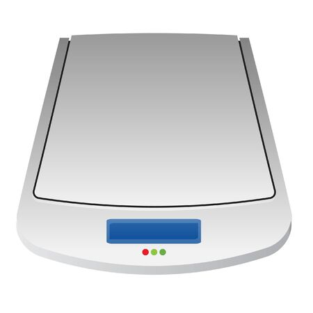 scanner: Scanner on white background Illustration