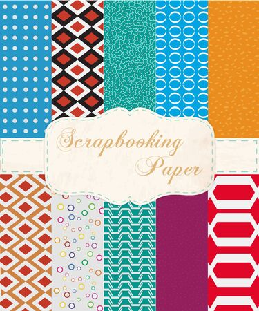 compendium: Abstract  Set of Paper for Scrapbook