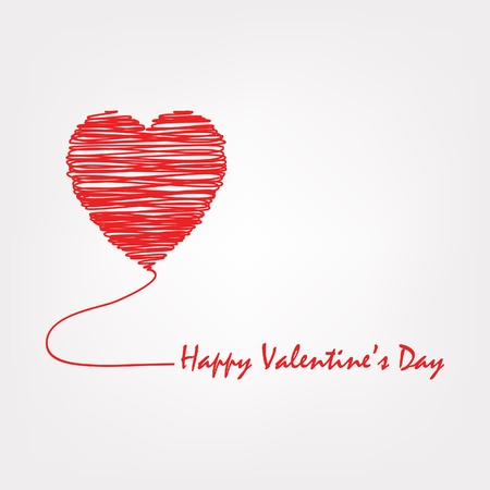 love card: Happy Valentine s Day Illustration