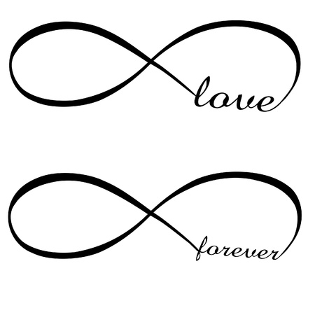 Oneindige Liefde, voor altijd Stock Illustratie