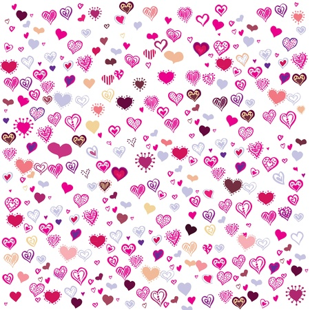 Purple Hearts Happy Valentine s Day Stock Vector - 17697910