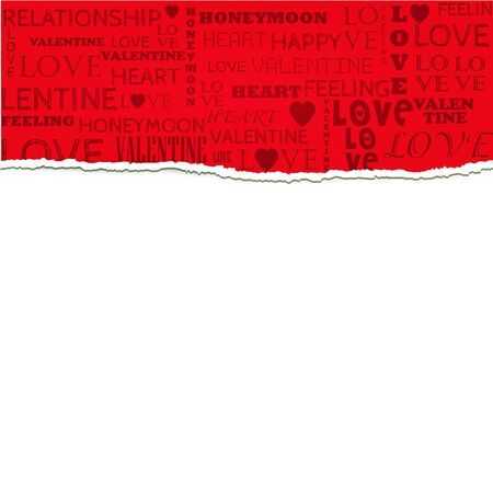 Love Torn Paper Greeting Background Stock Vector - 17697913