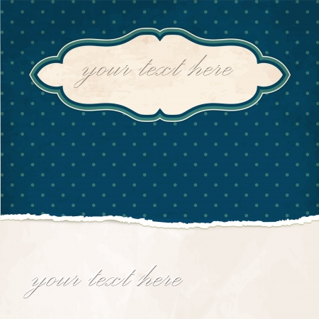 Torn paper vintage background with dotted pattern Vector