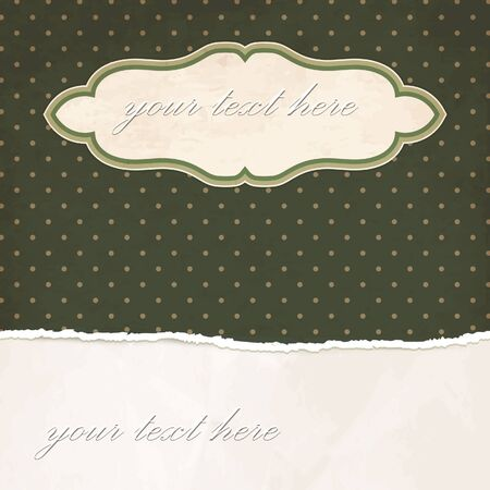 Torn paper vintage background with dotted pattern Stock Vector - 18087989