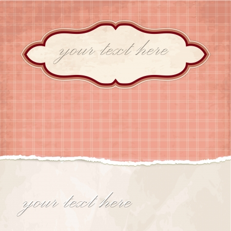Torn paper vintage background with plaid pattern Stock Vector - 18087990