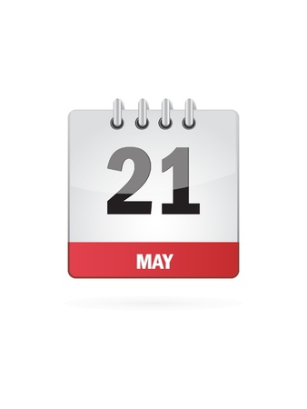 21 May Calendar Icon On White Background Stock Vector - 18392749