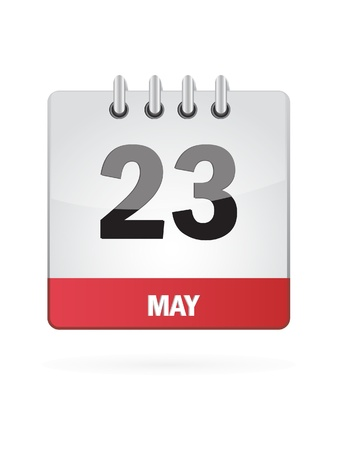 23 May Calendar Icon On White Background Stock Vector - 18392765