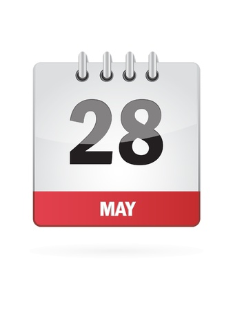 28 May Calendar Icon On White Background Stock Vector - 18392773