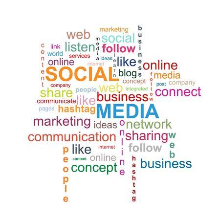 kommunikation: Social Media uttrycker molnet Illustration