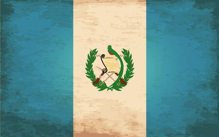 grime: Grunge Flag of Guatemala