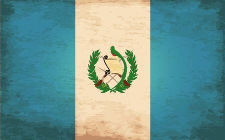 guatemala: Grunge Flag of Guatemala