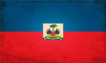 haiti: Grunge Flag of Haiti Illustration